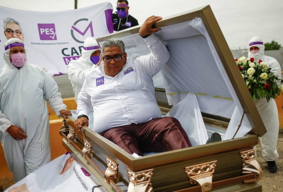 Candidato a diputado en México dentro de ataúd - Noticias de Ecuador