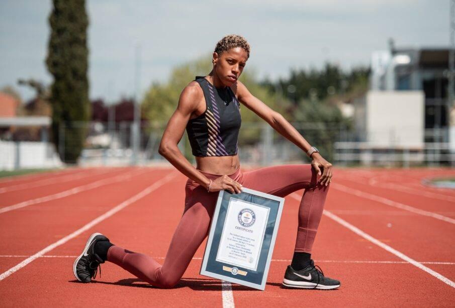 Atleta ganó el Récord Guinness en salto triple - Noticias de Ecuador