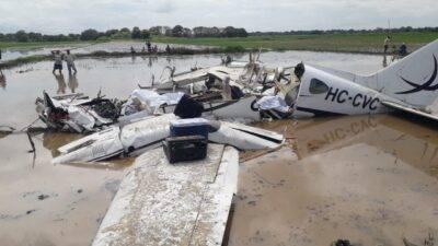 Accidente de avioneta en Salitre - Noticias de Ecuador