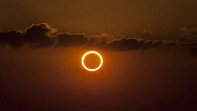 Eclipse solar o anillo de fuego - Noticias de Ecuador